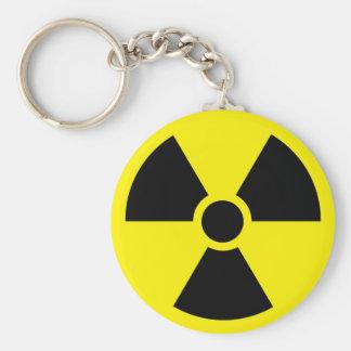 Radioaktives Symbol Keychain Schlüsselanhänger