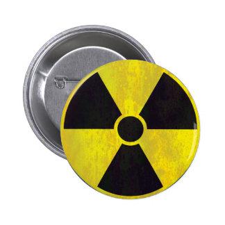 Radioaktives Warnzeichen Runder Button 5,7 Cm