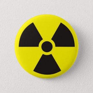 radioaktives Zeichen Runder Button 5,1 Cm