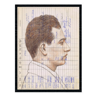 Radioschinken-Radio-Logbuch-Kunst des kopf-#12 Postkarte