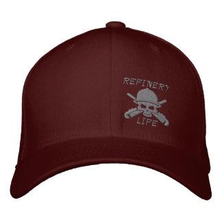 Raffinerie-Leben - nur Front (Graunähen) Bestickte Baseballkappe