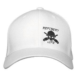 Raffinerie-Leben - nur Front (schwarzes Nähen) Bestickte Kappe