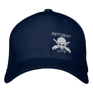 Raffinerie-Leben - nur Front (Weißnähen) Bestickte Kappe