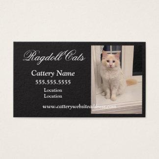 Ragdoll Cattery-Visitenkarten - schwarzes w-Weiß Visitenkarte