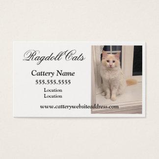 Ragdoll Cattery-Visitenkarten Visitenkarte