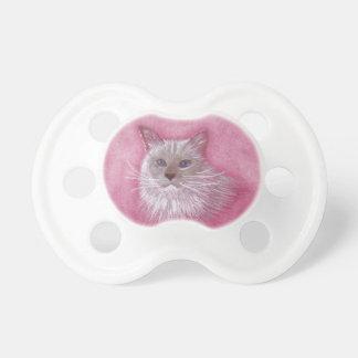Ragdoll Katze blind, niedlicher Schnuller