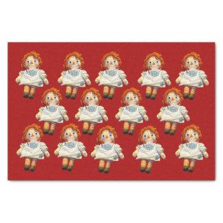 Raggedy Ann-Puppe Seidenpapier