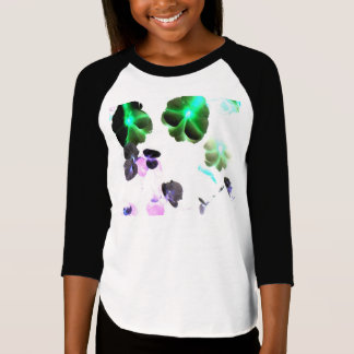 Raglan-T - Shirt blühender Raum Mädchen 3/4 die