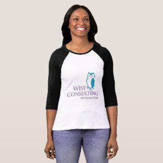 Raglan-T-Stück der Frauen großes das Logo T-Shirt