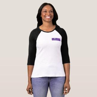 Raglan-T-Stück der klugen Frauen lila das Logo T-Shirt