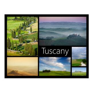 Rahmen-Collagenpostkarte Toskana schwarze Postkarten