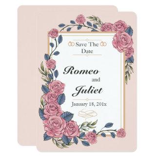 Rahmen der Rosen, die Save the Date Karte Wedding 12,7 X 17,8 Cm Einladungskarte