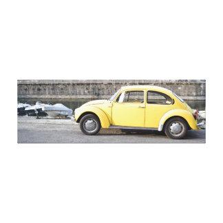 Rahmen mit gelbem Käferentwurf Leinwanddruck