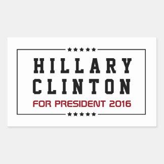 Rahmen-u. Stern-Hillary Clinton-Wahl 2016 Rechteckiger Aufkleber