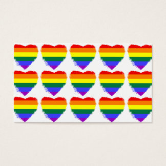 Rainbow hearts visitenkarte