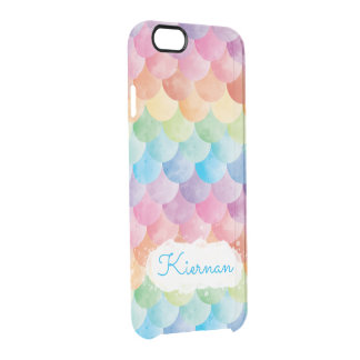 Rainbow Mermaid Watercolor Clear Phone Case Durchsichtige iPhone 6/6S Hülle