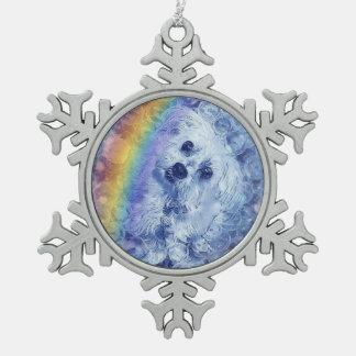 Rainbubbles - Zinn-Schneeflocke-Verzierung Schneeflocken Zinn-Ornament