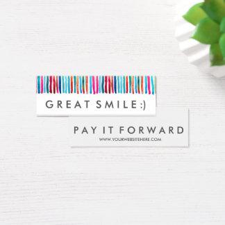 RAK großer Lächeln-Lohn es vorwärts Karten