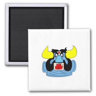 Rakshasa stellen Cartoon Regrigerator Magneten Quadratischer Magnet