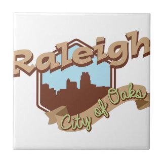 Raleigh-Stadt der Eichen Kleine Quadratische Fliese