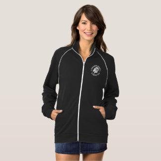 RAM-Bahn-Jacke der Damen schwarze, amerikanisches Jacke