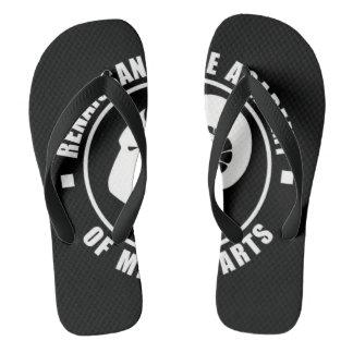 RAM drehen Reinfälle, großes weißes Logo um Flip Flops