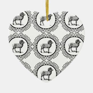 RAM in einer Runde Keramik Ornament