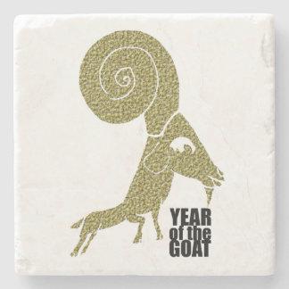 RAM-Schaf-Ziegen-Jahr-chinesischer Steinuntersetzer