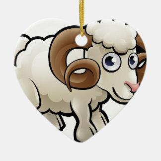 RAM-Vieh-Cartoon-Charakter Keramik Ornament