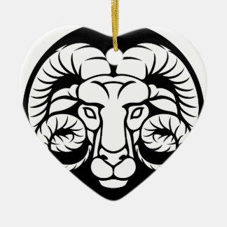 RAM-Widder-Tierkreis-Zeichen Keramik Ornament