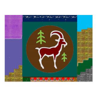 RAM-Ziegen-Symbol-Tiertierkreis-Astrologie Postkarte