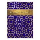Ramadan Mubarak lila und Goldblick Ramadan-Karte Karte