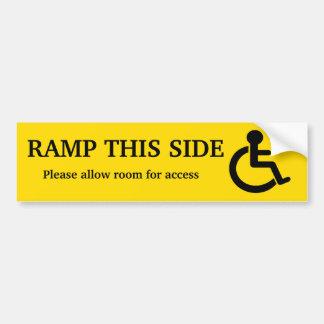 Rampen-Zugangs-Aufkleber Autoaufkleber