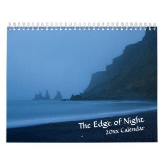 Rand des NachtDämmerungs-Kalenders Abreißkalender
