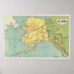 Rand McNallys Karte von Alaska Poster