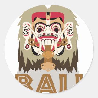 Rangda Bali Runder Aufkleber