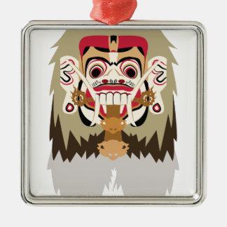 Rangda Silbernes Ornament