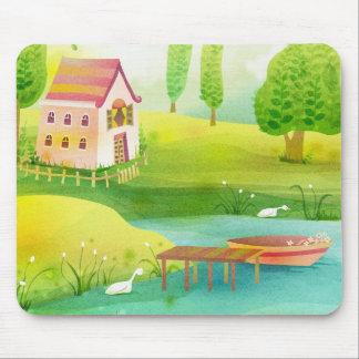 rangée de rangée votre bateau tapis de souris
