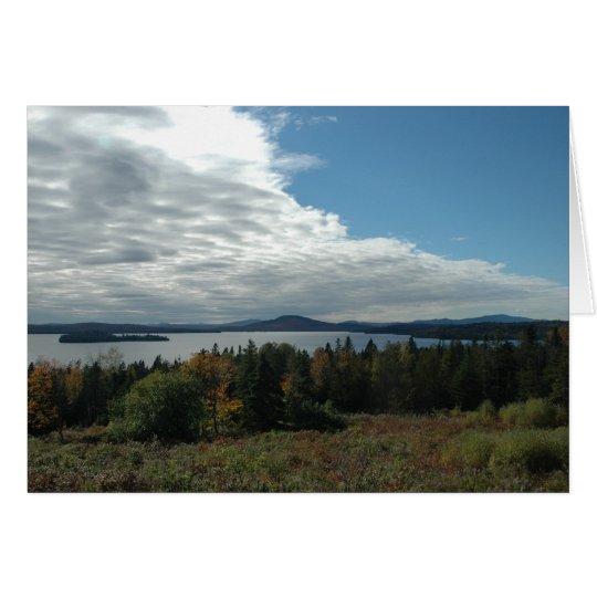 Rangeley See, Maine Karte