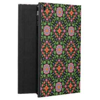 Rangoli floral sur la caisse noire de Powis d'air
