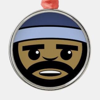 Rap-Gesicht Silbernes Ornament