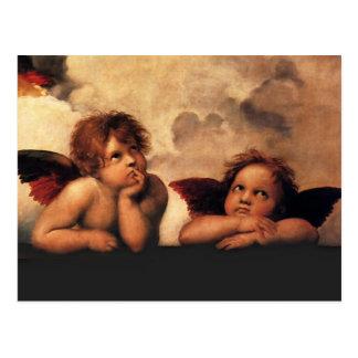 RAPHAEL-Engel Sistine Madonna 2 Engel Postkarte