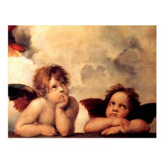 RAPHAEL-Engel Sistine Madonna Postkarte