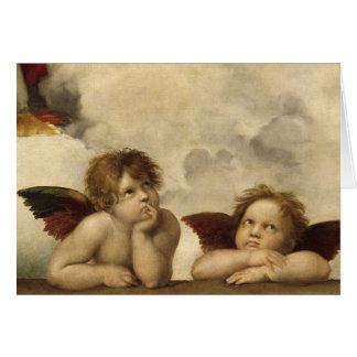 RAPHAEL, Sistine Engel Grußkarte