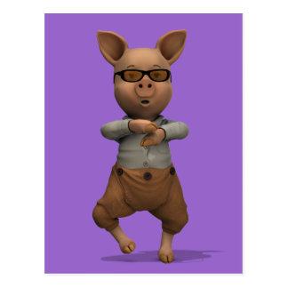 Rapper-Schwein Postkarte