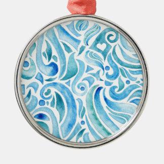 rapport WELLEN 2 Rundes Silberfarbenes Ornament