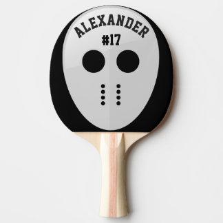 Raquette De Ping Pong Masque personnalisé d'hockey