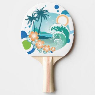 Raquette Tennis De Table Palette de ping-pong de surf d'île