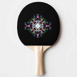 Raquette Tennis De Table Palette de ping-pong, noir en caoutchouc rouge
