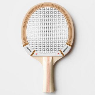 Raquette Tennis De Table Raquette de tennis en bois vintage